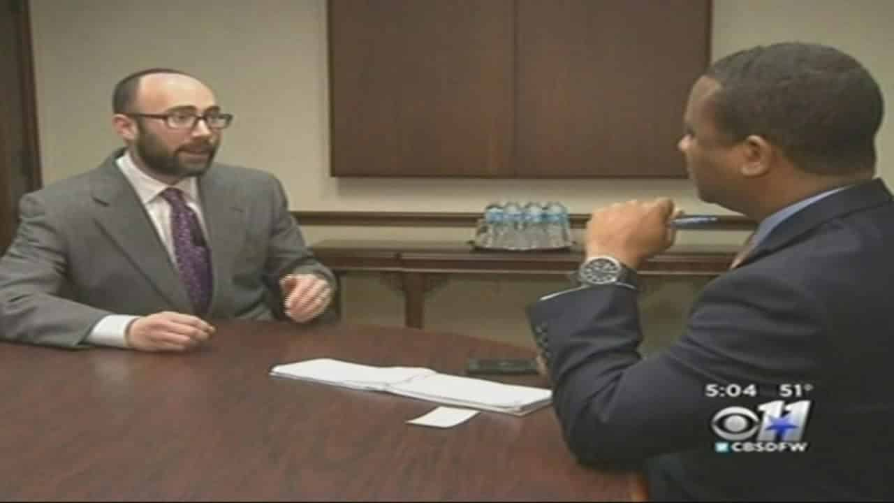 KTVT CBS 11 interview regarding recent appellate opinion