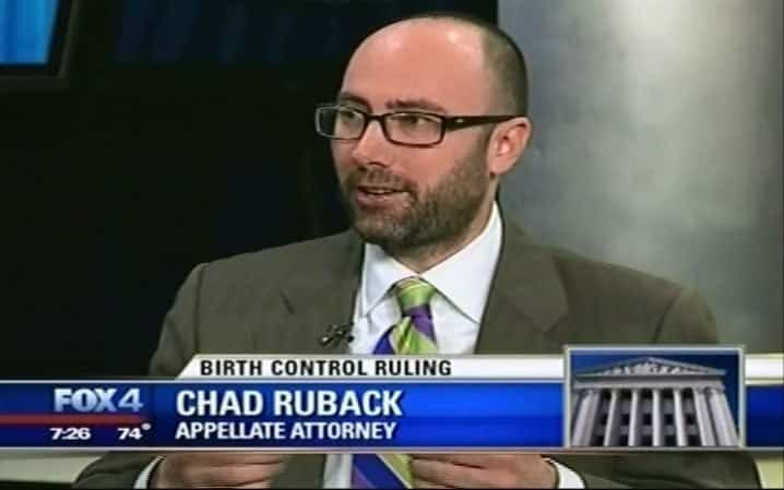Chad Ruback, Appellate Lawyer, interviewed live in Fox 4 studio